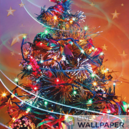 Colorful Christmas Tree Live Wallpaper - a cool phone background.