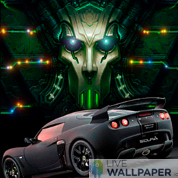 Futuristic Car Live Wallpaper - a cool phone background.