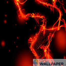 Lady on Fire Live Wallpaper - a cool phone background.
