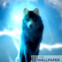 Glowing Wolf Phone Wallpaper - a cool phone background.