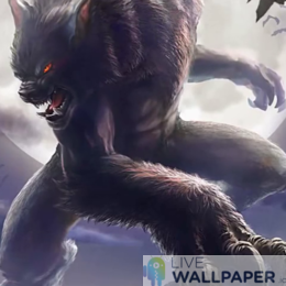 Werewolf Live Wallpaper - a cool phone background.