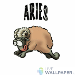 Funny Aries Zodiac Sign Live Wallpaper - a cool phone background.