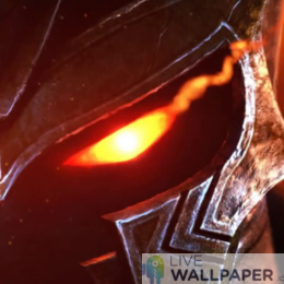 Sparky Warrior Eye Live Wallpaper - a cool phone background.