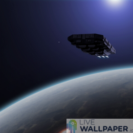 Starship Exodus Live Wallpaper - a cool phone background.