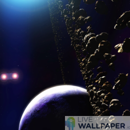 Alien Planet Live Wallpaper - a cool phone background.