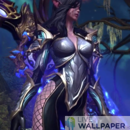 Sexy Fantasy Elf Lady Live Wallpaper - a cool phone background.