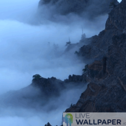 Misty Mountains Live Wallpaper - a cool phone background.