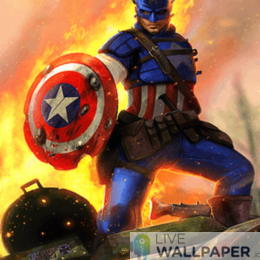 Captain America Live Wallpaper - a cool phone background.