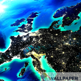 Europe Night Sky Live Wallpaper - a cool phone background.