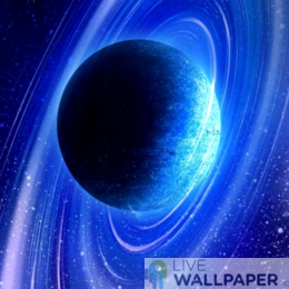 Magnificent Saturn Live Wallpaper - a cool phone background.