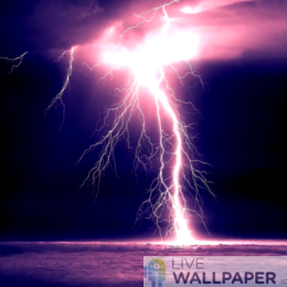 Lightning Wallpaper - a cool phone background.