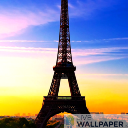 Eiffel Tower Live Wallpaper - a cool phone background.