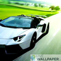Lamborghini in Motion Live Wallpaper - a cool phone background.