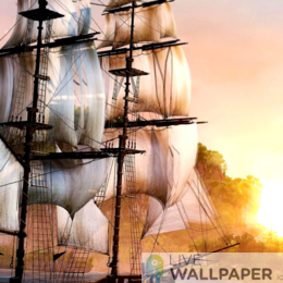 Pirate Ship Live Wallpaper - a cool phone background.