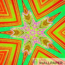 Colorful Star Live Wallpaper - a cool phone background.