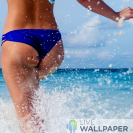 Sexy Girl on Beach Live Wallpaper - a cool phone background.