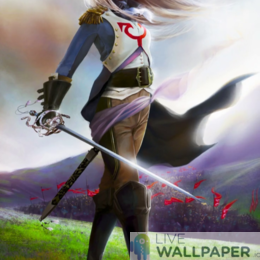 Fantasy Captain Girl Live Wallpaper - a cool phone background.