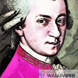 Animated Mozart Wallpaper - a cool phone background.