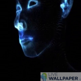 Face Glitch Live Wallpaper - a cool phone background.