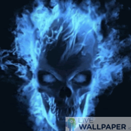 Mesmerizing Skull Live Wallpaper - a cool phone background.