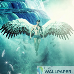 Male Angel Live Wallpaper - a cool phone background.