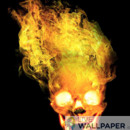 Fiery Skull Live Wallpaper - a cool phone background.