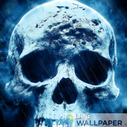Creepy Skull Live Wallpaper - a cool phone background.