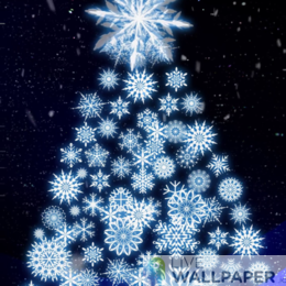 Artistic Christmas Tree Live Wallpaper - a cool phone background.