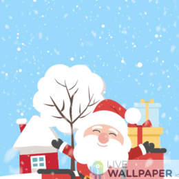 Santa Wallpaper - a cool phone background.