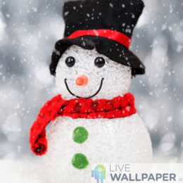 Christmas Snowman Wallpaper - a cool phone background.