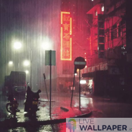 Rainy City Wallpaper - a cool phone background.