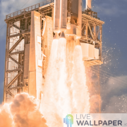 Rocket Taking Off Live Wallpaper - a cool phone background.