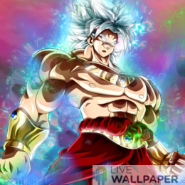 Broly Ultra Instinct Live Wallpaper - a cool phone background.