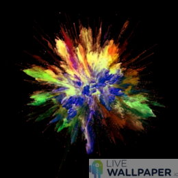 Colors Explosion Live Wallpaper - a cool phone background.