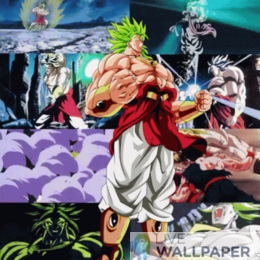 Broly Super Saiyan Live Wallpaper - a cool phone background.