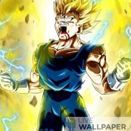 Vegeta Ultra Instinct Live Wallpaper - a cool phone background.