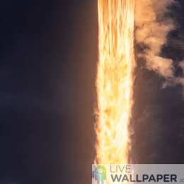 Rocket Launch Live Wallpaper - a cool phone background.