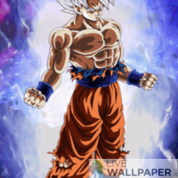 Goku Ultra Instinct Live Wallpaper - a cool phone background.