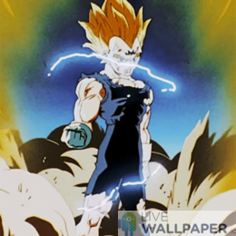 Majin Vegeta Live Wallpaper - a cool phone background.