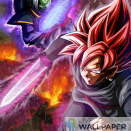 Black and Zamasu Live Wallpaper - a cool phone background.