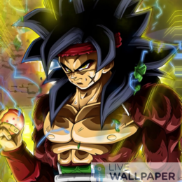 Bardock Saiyan Live Wallpaper - a cool phone background.