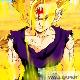 Wounded Gohan Live Wallpaper - a cool phone background.
