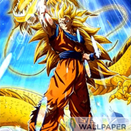 LR SSJ3 Goku Live Wallpaper - a cool phone background.