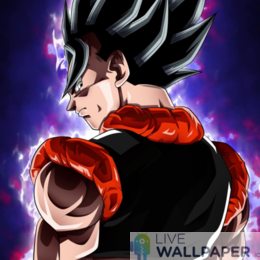 Majestic Gogeta Live Wallpaper - a cool phone background.