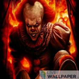 Pennywise Live Wallpaper - a cool phone background.