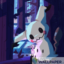 Mimikyu Live Wallpaper - a cool phone background.