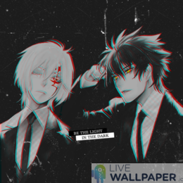 D.gray-man Glitch Live Wallpaper - a cool phone background.