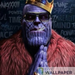 Pimped Thanos Live Wallpaper - a cool phone background.