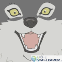 Cute Anime Wolf Live Wallpaper - a cool phone background.