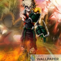 Bakugo Live Wallpaper - a cool phone background.